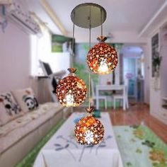 [ $104 OFF ] Aluminum Hollow Petal Modern Pendabt Light Bedroom Room Hanging Wire Pendant Lamp Three Korean Cozy Shop Zzp