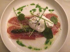 Groene asperge – hoeve ei – Manchego – Duroc ham @ Restaurant Het Fornuis