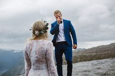 mountain first look in norway elopement