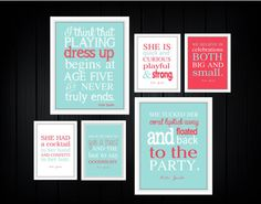 Dorm Decor 6 Prints   Custom Colors by TheEducatedOwl on Etsy, $37.00