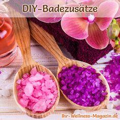 DIY-Rezept für selbstgemachtes buntes Badesalz - macht jedes Vollbad zu einem kleinen Wellnessurlaub