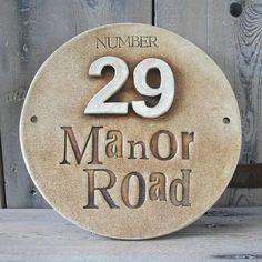 round ceramic house address sign by cherry pie lane   notonthehighstreet.com