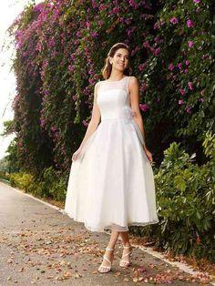 A shorter flowy dress.
