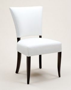 HICKS and HICKS Emily Dining Chair - A real show stopper of a dining chair. The elegant design is contemporary but also has classic lines of the most stylish of chairs. Wing Chair, Sofa Chair, Farmhouse Table Chairs, Dining Chairs, Luxury Furniture, Modern Furniture, Wood Restaurant Chairs, Ashley Furniture Chairs, Recycled Plastic Adirondack Chairs