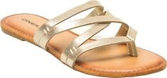 ONeill Womens Bailey Sandal Pale Gold 6 >>> Check this awesome product by going to the link at the image. Pretty Sandals, Beautiful Sandals, Gold Sandals, Shoes Sandals, Flats, Slippers For Girls, Womens Slippers, Shoe Art, Art Shoes