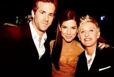 Ryan Reynolds, Sandra Bullock, & Ellen Degenerres! Three of my favorite people in Hollywood!