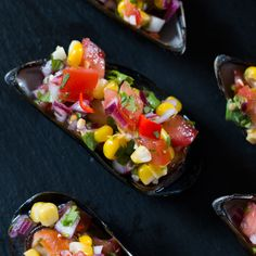 Peruvian Mussels With Corn Salsa