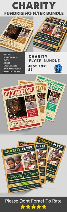 Charity Flyers Bundle — Photoshop PSD #foster #collage • Available here → https://graphicriver.net/item/charity-flyers-bundle/19650574?ref=pxcr