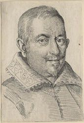 Ottavio Leoni (Il Padovano)(Rome, 1578-1630) ~ Lodovico Bertuccio (?) ~ Engraving ~ ca.1618-1620 ~ This seems to be among the earliest of Leoni's prints, characterized by his early engraving style with its relatively loose and open system of modelling form, and sparse, linear description of costume details.The name of the sitter is  perhaps identifiable with the painter Lodovico Bertucci, born in Modena, and who worked in Rome specializing in scenes of everyday peasant life and fanciful…