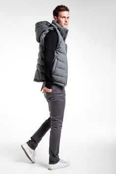Hooded Zip Up Quilted Gilet