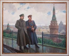 by Alexander Gerasimov (1881~1963) was a leading proponent of Socialist Realism in the visual arts, and painted Joseph Stalin and other Soviet leaders.