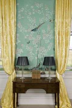 de gournay turquoise chinoiserie - Google Search