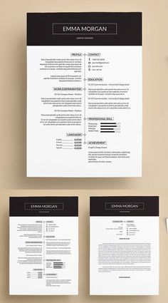 resume template for word, resume idea, pretty r… Creative Simple Resume Template. resume template for wo. Simple Resume Template, Resume Design Template, Cv Template, Resume Templates, Cover Letter For Resume, Cover Letter Template, Resume Models, Creative Resume, Unique Resume