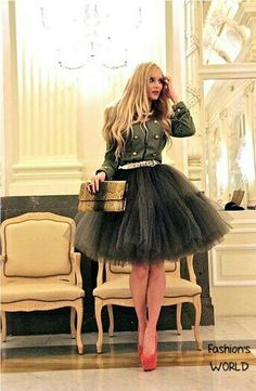 tutus for adult women teen tutus halloween dress up ballet tulle tutu or costumes Skirt Outfits, Cute Outfits, Black Tutu, Mode Chic, Rockabilly Style, Tulle Tutu, Moda Fashion, Passion For Fashion, Dress To Impress