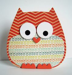 Make owls out of scrapbook paper for classroom decoration!!
