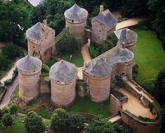 Château de Lassay, Lassay-les-Châteaux, Mayenne, France... www.castlesandmanorhouses.com ... The original castrum or castellum, built in the early years of the twelfth century, was probably a motte and bailey castle. The present castle was classé as a monument historique in 1862 and is still a private residence.