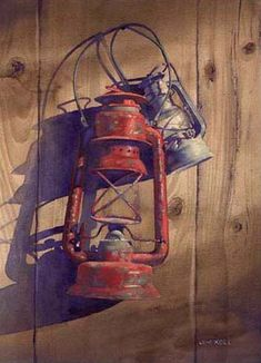 James Koll, Still Life Old Lanterns, Antique Oil Lamps, Bottle Painting, Old Barns, Light Painting, Photomontage, Light And Shadow, Watercolor Paintings, Watercolors