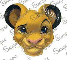 DIGITAL printable Do-It-Yourself Simba from the Lion King Character Mickey head file can be Personalized for you!