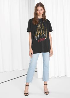 & Other Stories image 1 of Leo Claw Tee in Leo Print