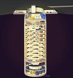 Многоквартирный дом бункер