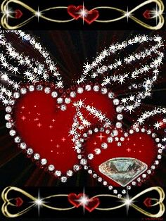 2 hearts bonded together as one.Together Forever Never to Part...By Artist Unknown...