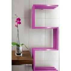 Nowoczesny grzejnik łazienkowy o oryginalnym kształcie. Designerskie grzejniki ozdobne do łazienki. http://polskiegrzejniki.pl/ #grzejniki #dom #design #aranzacje #grzejniklazienkowy