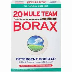 One 65 oz. All-natural laundry booster and multi-purpose household cleaner. All Natural Laundry Booster. Borax Laundry, Laundry Detergent, Laundry Tips, Laundry Room, Borax Uses, Uses For Borax Powder, Get Rid Of Spiders, Couture Vintage, How To Remove Rust
