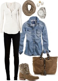 "It's getting closer and closer to fall! I could watch some waves roll in in this outfit. ""Fall outfit"" by karen-de-nul on Polyvore"