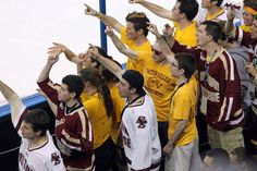 It's All Your Fault!: I've had the privilege of seeing this crowd tradition in person. Boston College hockey is like a religion to the student-body. Luckily for them, the Eagles are consistently one of the top programs in the country. And their crowd reflects it. If I was a goalie, I don't know what I'd be more worried about; allowing a goal against BC, or having to listen to the crowd afterward.