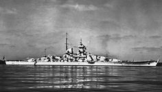 11 in battleship Gneisenau, shortly after the 1939 reconstruction which gave her a raked bow (the original straight stem was found to be very 'wet' on trials) and a funnel cap: sister Scharnhorst was similarly modified, but in addition her mainmast was moved further aft, making the previously identical sisters easy to differentiate.  Gneisenau was terminally damaged by RAF bombing in February 1942.
