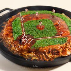 Heat up the baseball! Miniature Photography, Food Photography, Creative Pictures, Creative Art, Miniature Calendar, Minis, Savory Pancakes, Tiny World, Food Decoration