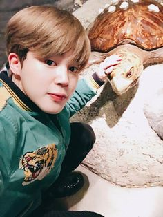 Jimin and turtle :D