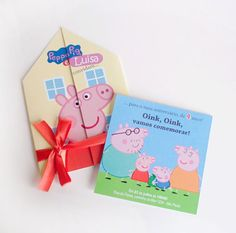 Convite Peppa Pig (casinha)