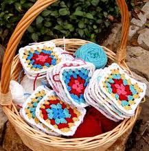 square granny crochet - Buscar con Google