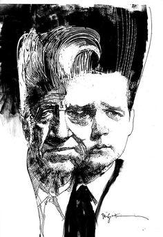 Bill Sienkiewicz  David Lynch/ Jack Nance commission (for Jeff Lemire)