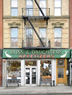 Russ & Daughters restaurant, also a deli. Go on a week night and try the latkes! 179 E Houston St.