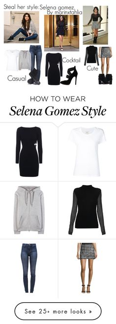 """""""Steal her style: selena gomez"""" by marinxtahlia on Polyvore featuring adidas NEO, Max 'n Chester, J Brand, T By Alexander Wang, Converse, Rachel Zoe, Topshop, Elie Tahari and stealherstylemarinxtahlia"""