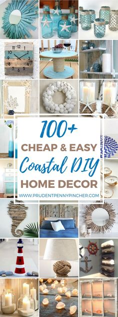 Handmade Home Decor 100 Cheap and Easy Coastal DIY Home Decor Ideas Diy Home Decor For Apartments, Diy Home Decor Projects, Easy Home Decor, Handmade Home Decor, Home Improvement Projects, Cheap Home Decor, Wood Projects, Diy Decorations For Home, Decor Crafts