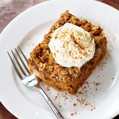 Pumpkin Crisp...  The simplicity and buttery rich crumble topping of a fall crisp, the perfection of a creamy pumpkin pie!