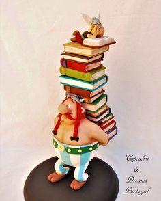 Gravity Defying Cake, Gravity Cake, Fondant Cake Designs, Fondant Cakes, Pig Cupcakes, Cupcake Cakes, Fancy Cakes, Cute Cakes, Asterix E Obelix