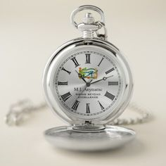Lucky Eye of Horus on Silver effect retirement Pocket Watch - good gifts special unique customize style