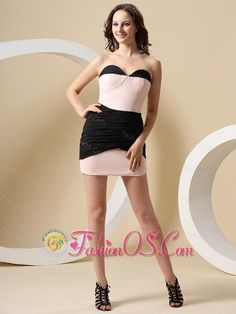 Pink and Black With Sweetheart Mini-length For Prom Dress In Orange  http://www.fashionos.com  This mini -length prom dress looks so sexy. It's bodice features a sweetheart neckline with ruching. The mini-length pleating skirt can show your legs perfectly. You can take this dress and show yourselves.   discount prom dress   customize prom dress   affordable prom dress   where to buy prom dress   prom dress online shop   prom dress websites   low price prom dress   fitted prom dress