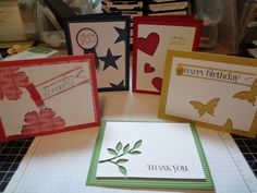 Negative space cards What a great idea for the negative cuts made from punches or Cricut cuts.  TkU