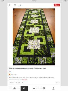 Great table runner idea for St. Patricks Day