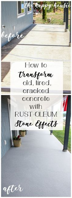 How to Transform an Old, Tired, Cracked Concrete Patio – The Happy Housie