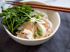 Poached chicken may not be as popular as fried, roasted, and braised chicken, but when it's done correctly, its tenderness and juiciness are unmatched. Served with a bright, flavorful dressing like this miso vinaigrette, it makes an easy, light, clean-tasting dinner or lunch.