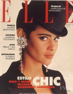 Covers of Elle Spain with Nadege du Bospertus, 000 1991 | Magazines | The FMD #lovefmd