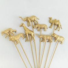 Animal Drink Stirrers (8 pack) | Pretty Little Party Shop - Stylish Party & Wedding Decorations and Tableware