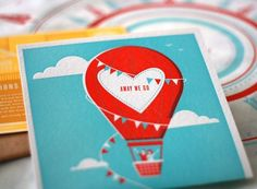 Hot Air Balloon Invitation, www.oneplusonedesign.ca by jeanette