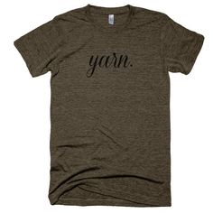 yarn. T shirt in tri-coffee, cranberry, evergreen or gray - Vintage Feel Tee - Made in the USA  by Lemon & Dot